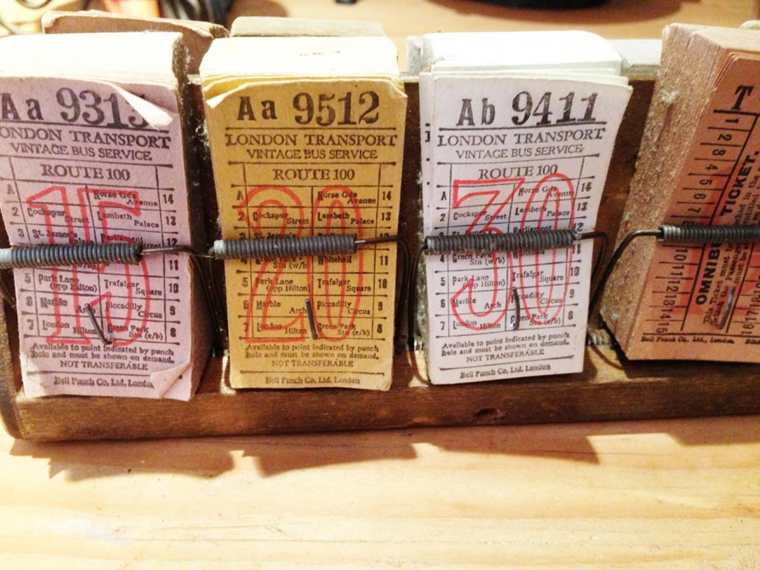 Antique Tram Tickets