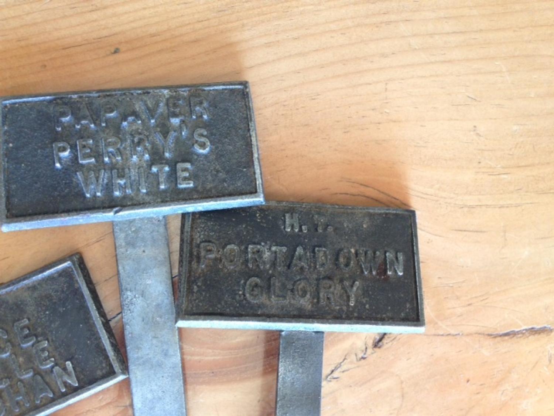 Antique Metal Plant Labels In Antique Garden Tools