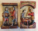 Rare pair 19th cent Folk Art carvings - picture 9