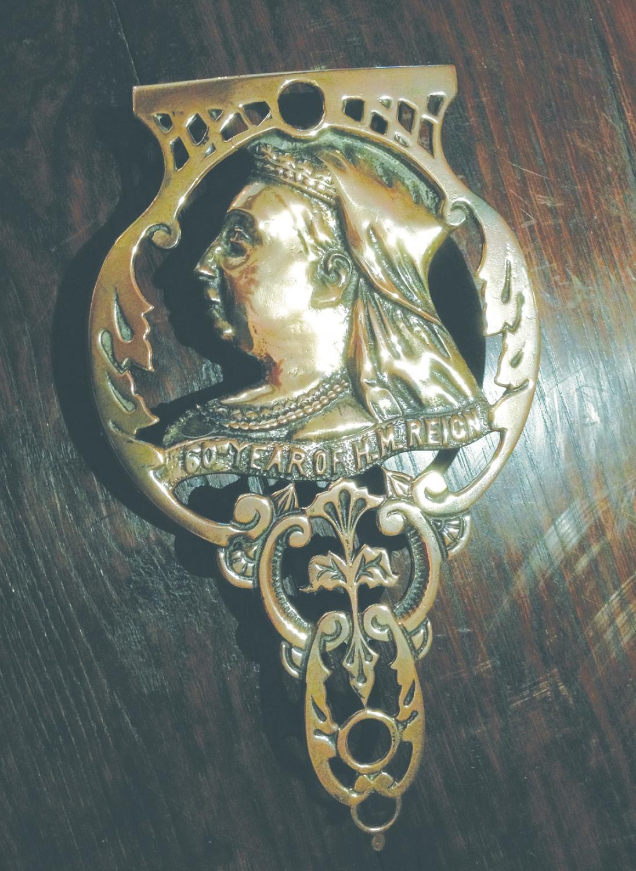 Victorian Brass Queen Victoria Trivet