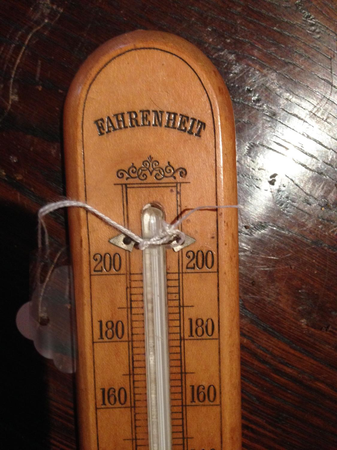 Antique Boxwood Thermometer