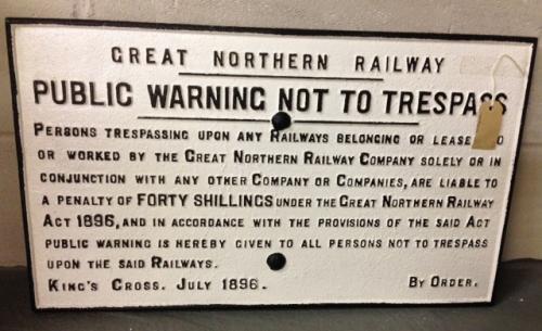Genuine Victorian Railway sign