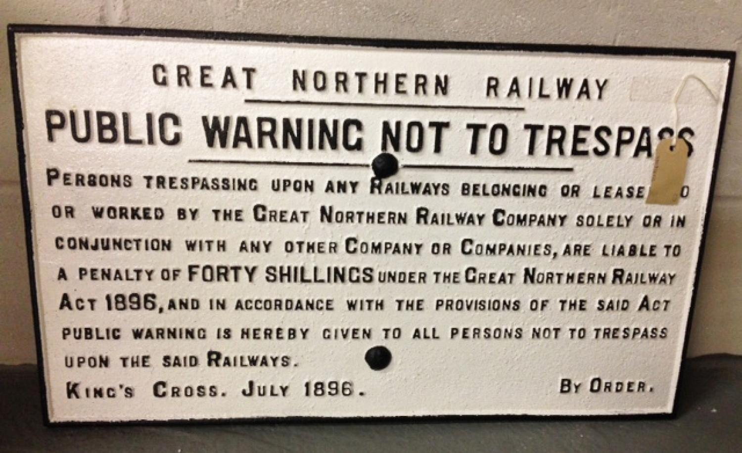 Genuine Victorian Railway sign