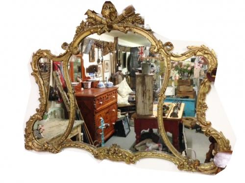 Stunning 19th Cent Large Gilt Mirror