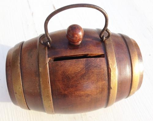 Antique Treen Money Box