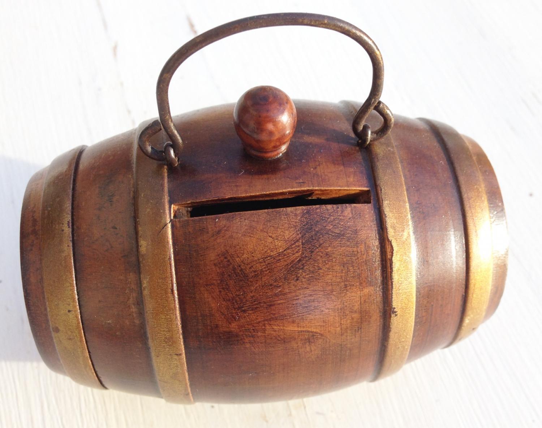 Antique Treen Money Box