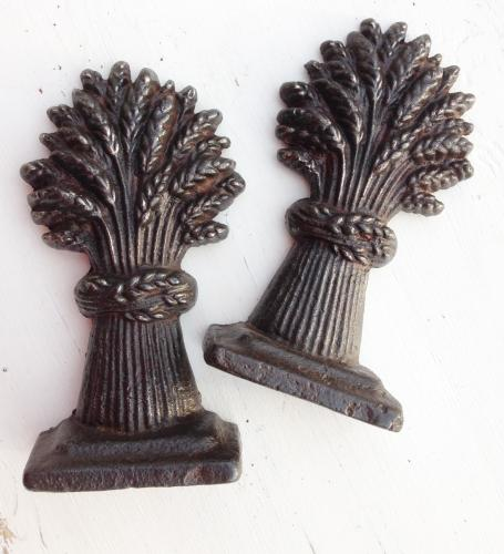 Matching Pair Wheatsheaf Chimney Pieces