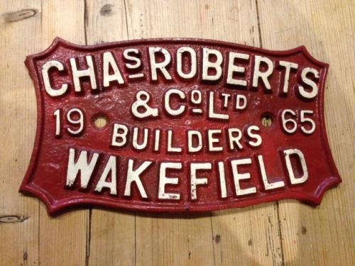 Charles Roberts Wagon name plate Wakefield