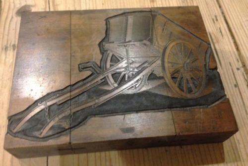 Boxwood Printer's Block Farm Cart