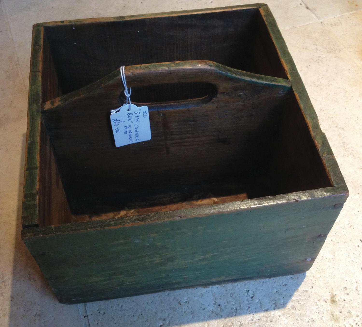 Antique Shoe Cleaning Box