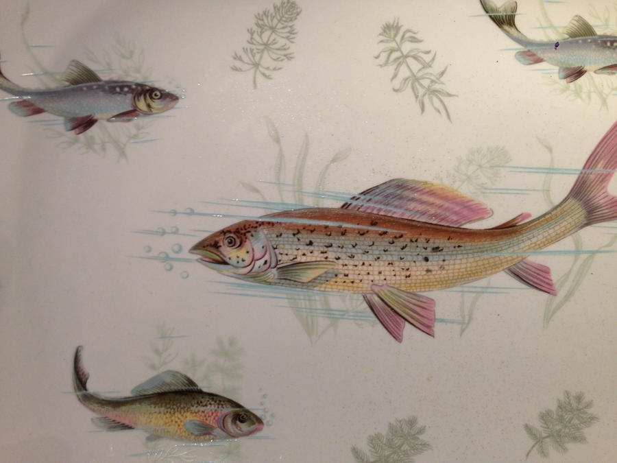 Antique Fish Plate