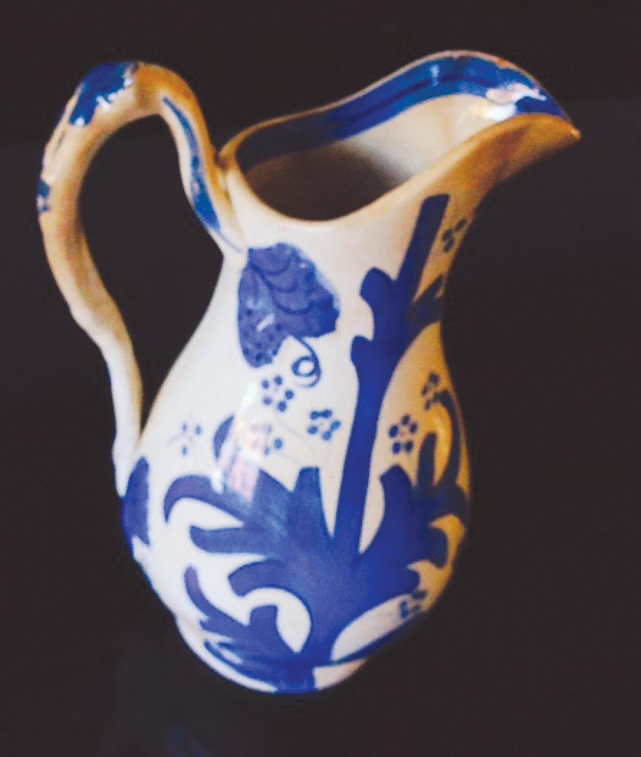 Antique Blue decorated jug