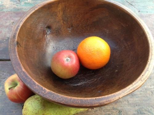 Antique Beech wood Dairy Bowl