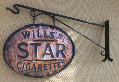 Original Hanging Wills Shop Sign on bracket