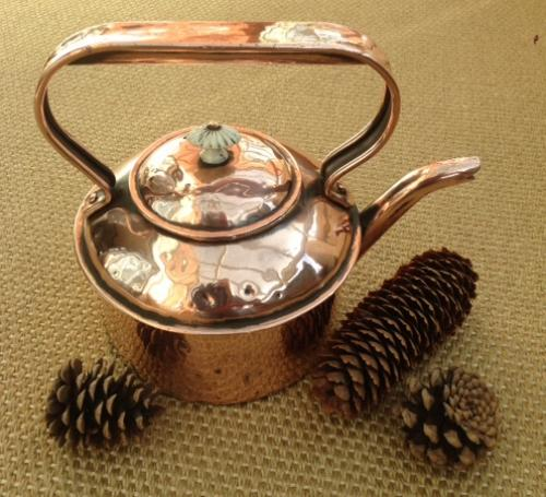 19th Cent Copper Hob Kettle