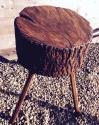Antique Rustic Chopping Block (Lamp Table) - picture 2