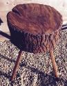 Antique Rustic Chopping Block (Lamp Table) - picture 3