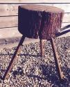 Antique Rustic Chopping Block (Lamp Table) - picture 4