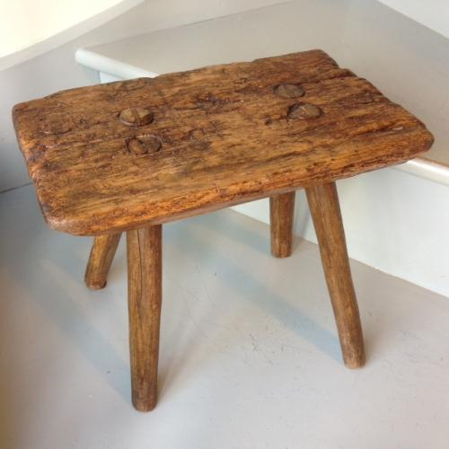 19th cent 4 legged Country Stool