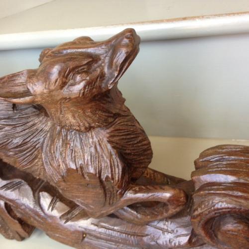 Stunning 19th Cent Fox carving