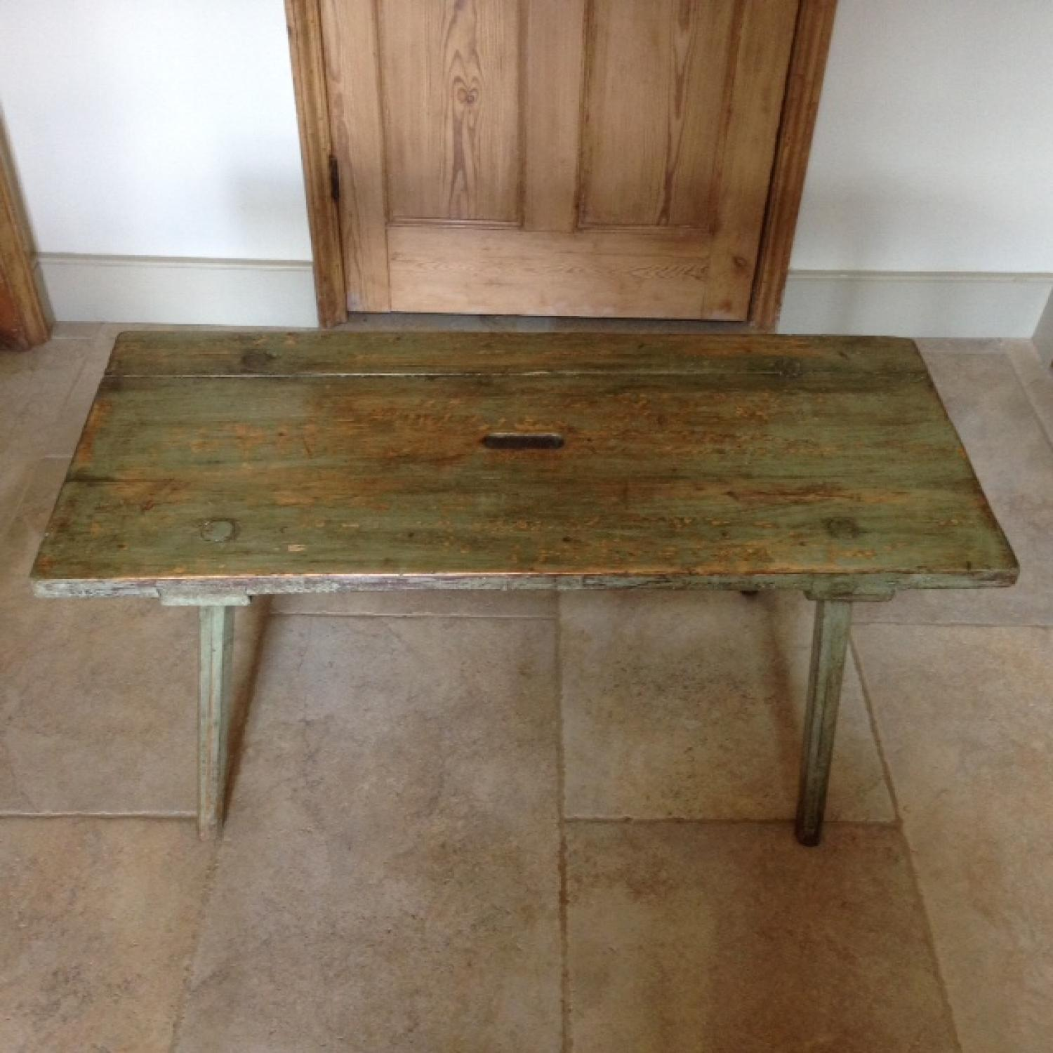 Antique Country Coffee Table Bench