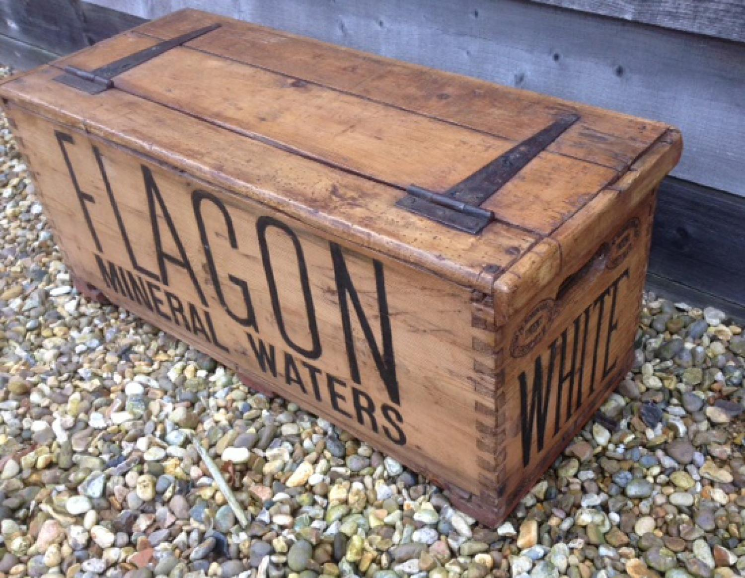 Antique Flagon Mineral Waters Advertising Box