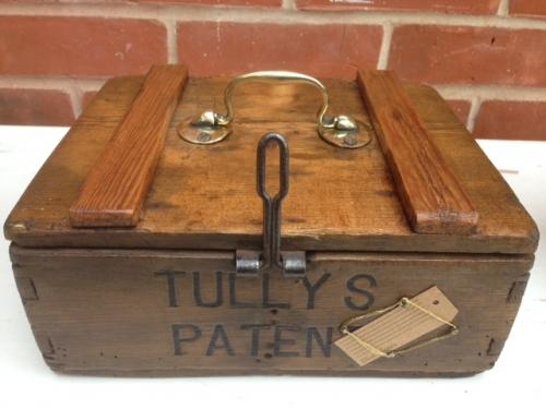 Antique Egg Box Tulleys Patent