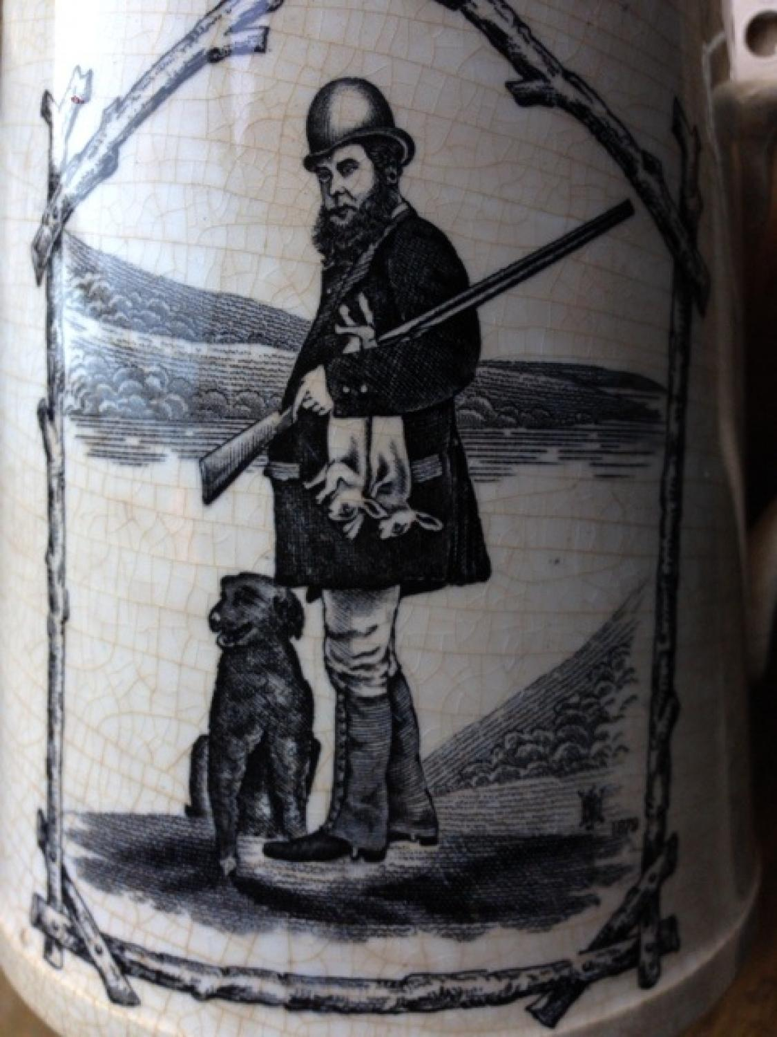 Victorian 'The Poacher' Mug