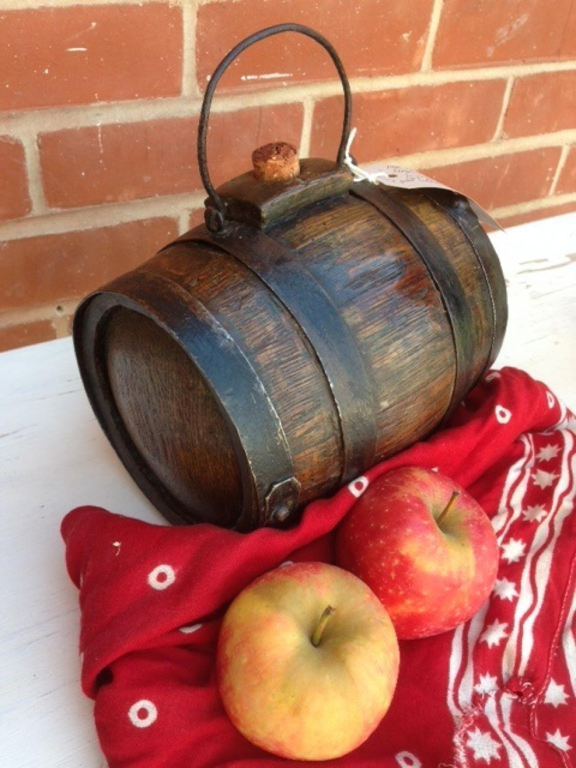 19th Cent Harvest Barrel Costrel