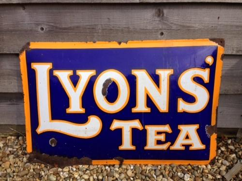 Original LYONS Enamel sign
