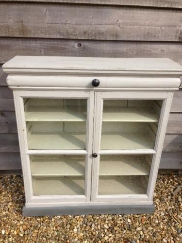 Victorian painted glazed wall cupboard