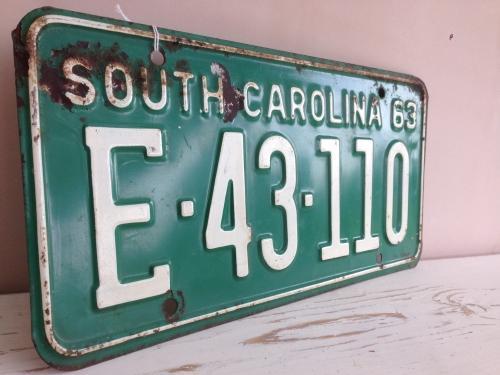 Vintage USA Car Plate