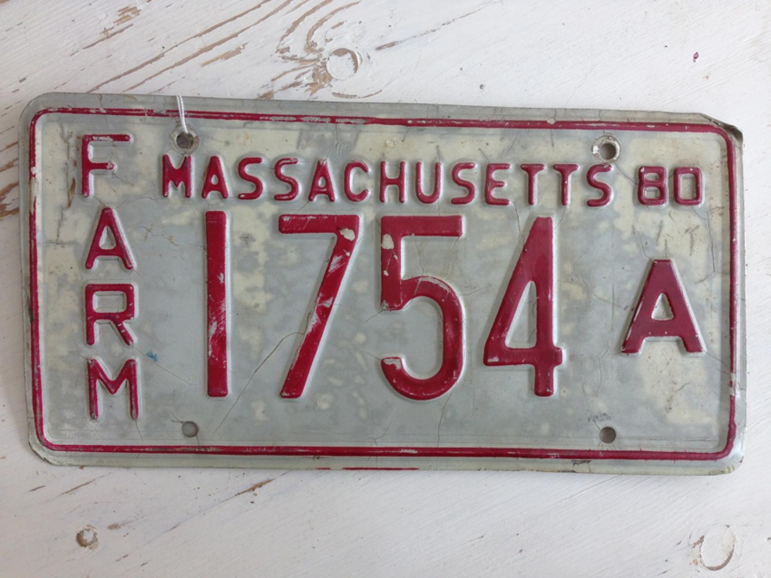 Vintage USA Car Plate Massachusetts