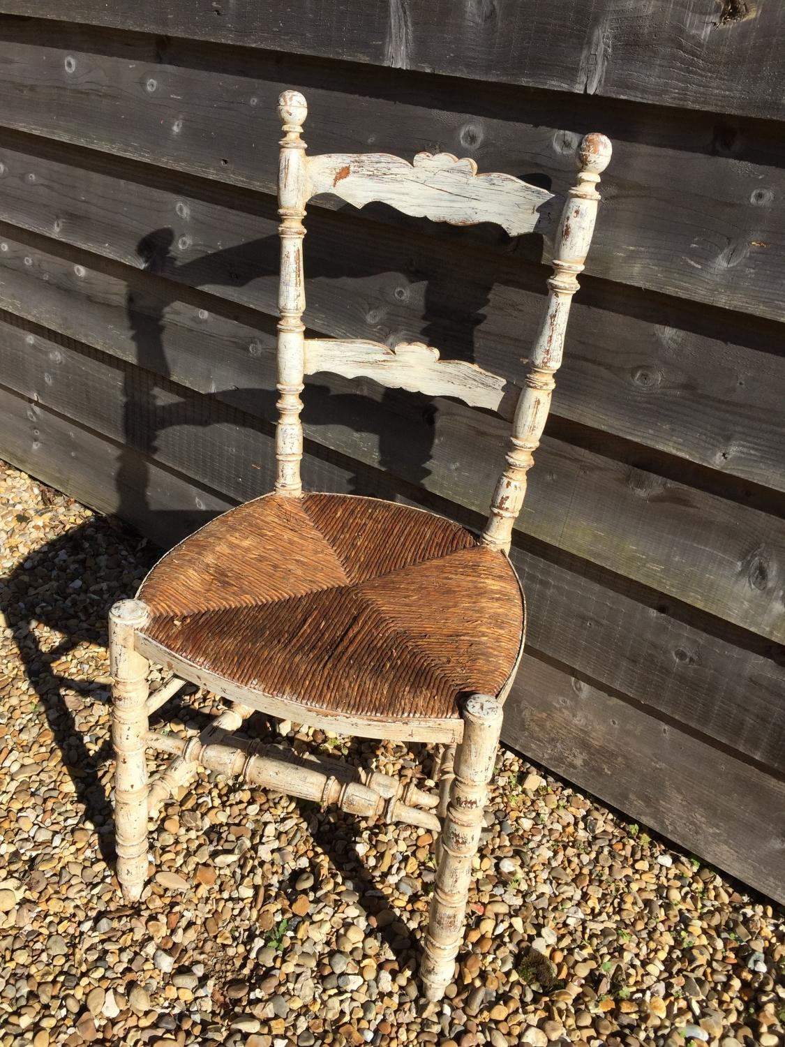 Antique French Painted Chair