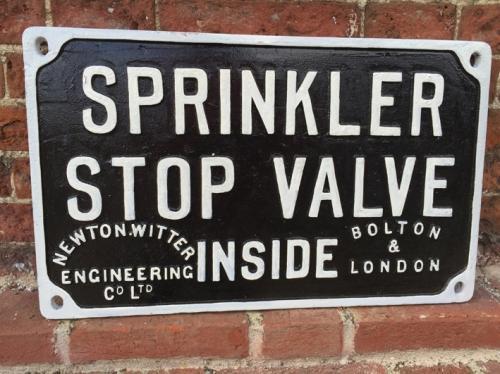 Vintage Cast Iron SPRINKLER STOP VALVE