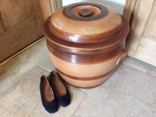 Huge Ceramic Crock with Lid