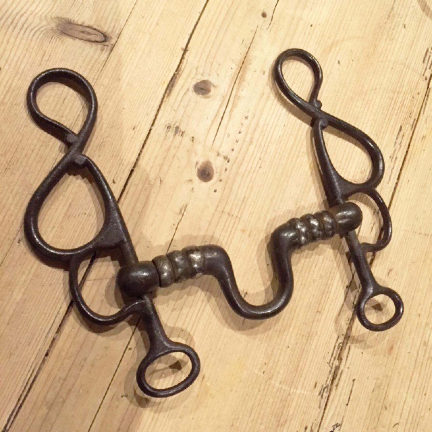 Antique Horse Bit with folding sides