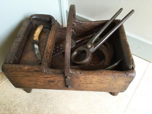 Antique Farriers Box with Tools