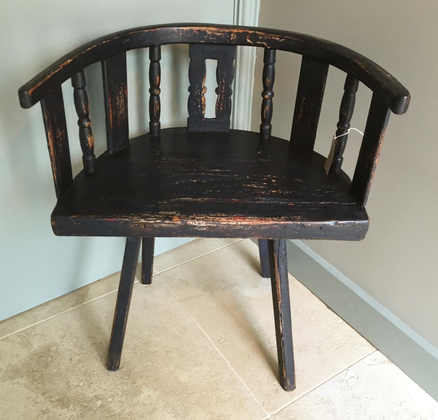 Early Primitive Painted Country Chair