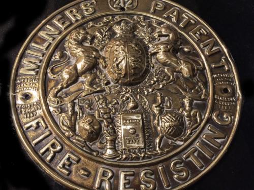 Victorian Milner Safe Plate