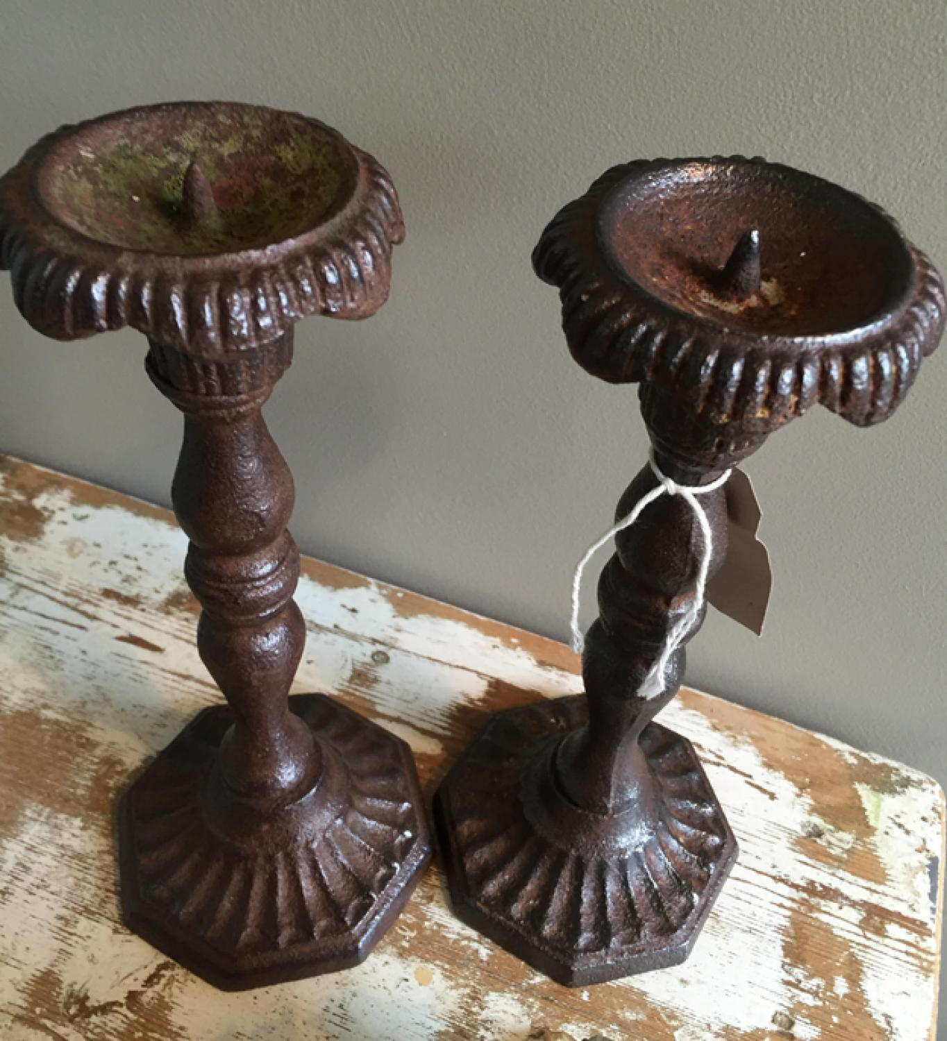 Cast Iron Candlesticks