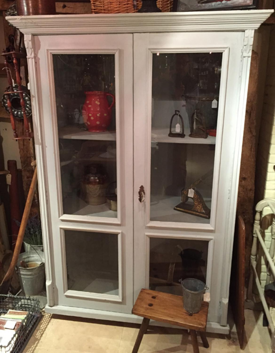 Fine Antique Painted Tall Cupboard