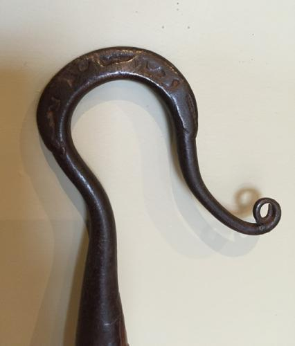 Antique Shepherd's Crook with decorated bac