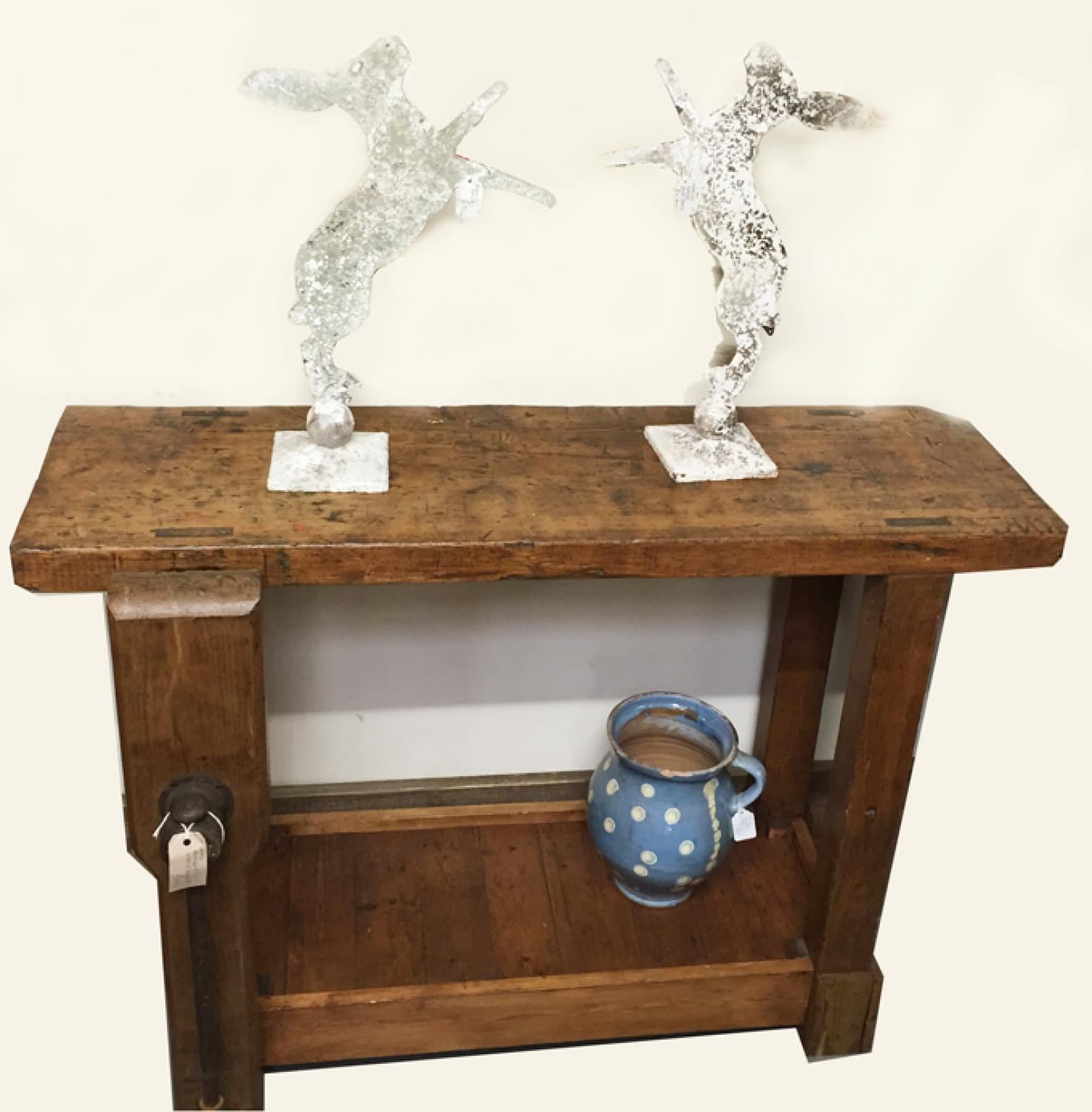 Small Antique Work Bench Table
