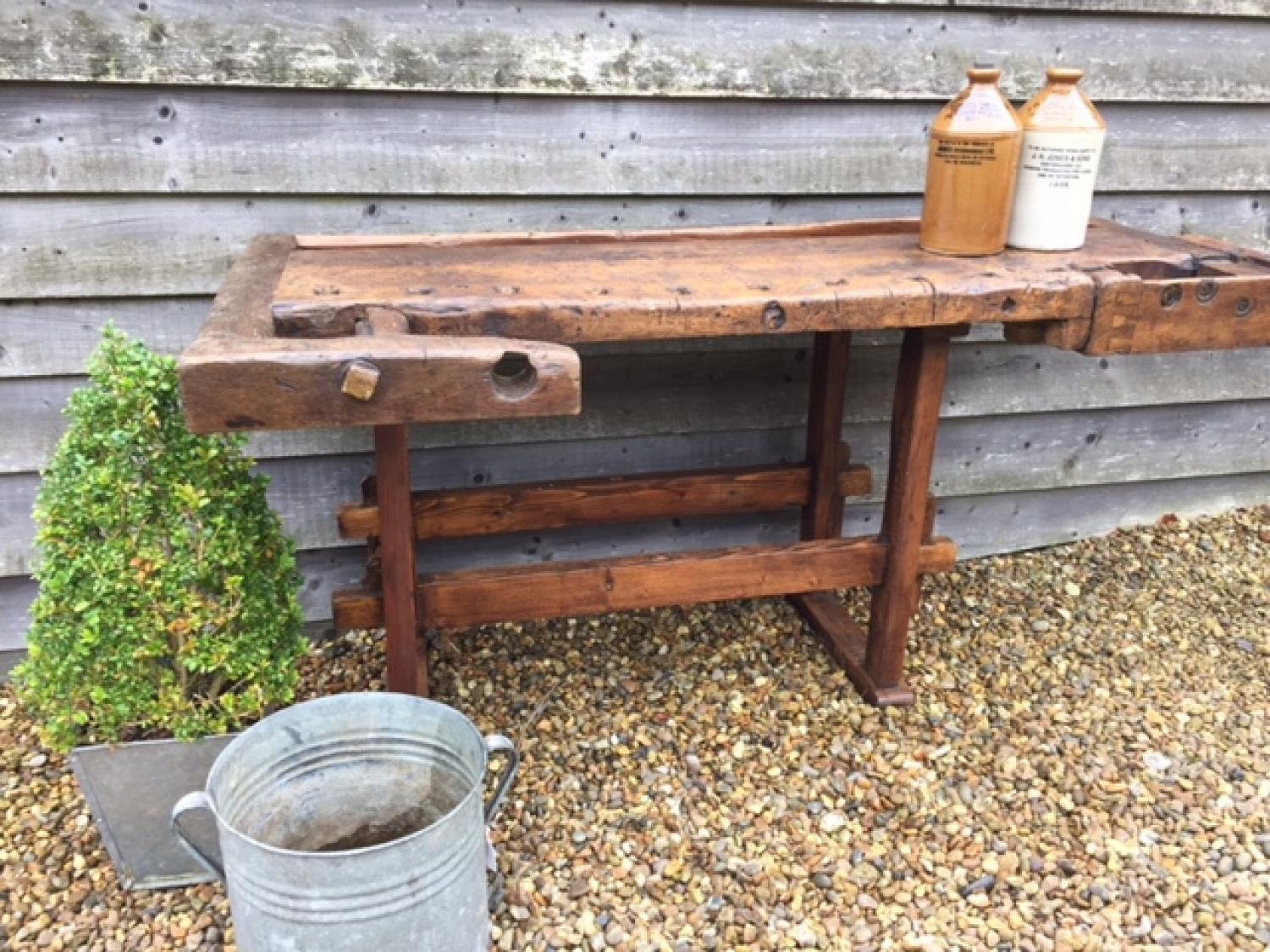 19th Century Workbench Table