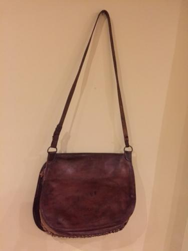 Antique Leather Hunting Game Bag