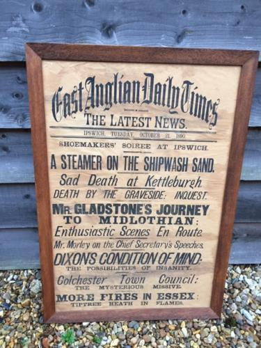 Large Victorian Typographical Poster