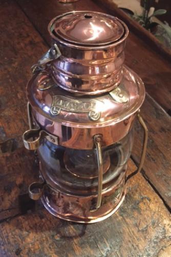 Antique Copper Ship\'s Lamp