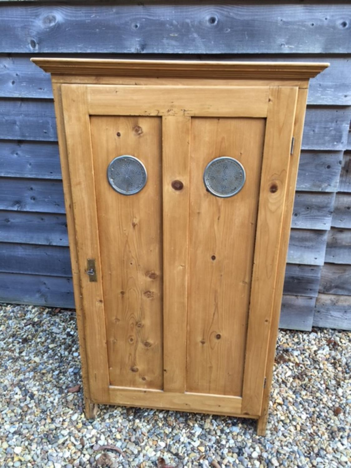 Small Antique Pine Larder Cupboard - Small Antique Pine Larder Cupboard In FURNITURE & BOXES