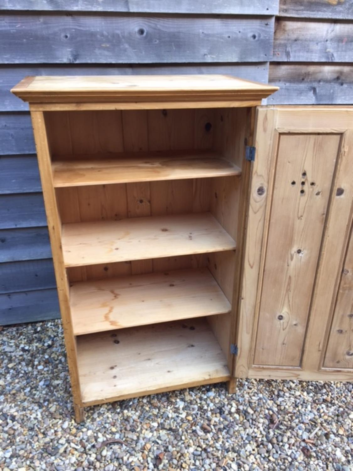 ... Small Antique Pine Larder Cupboard - picture 3 - Small Antique Pine Larder Cupboard In FURNITURE & BOXES